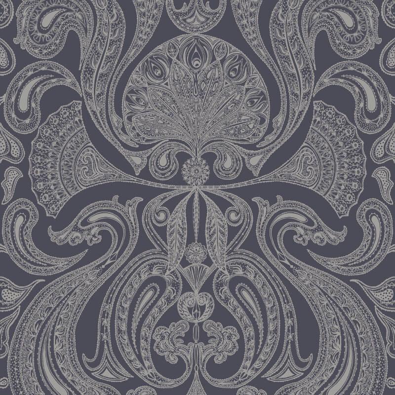 Cole & Son Malabar Slate Grey Wallpaper - 95/7043