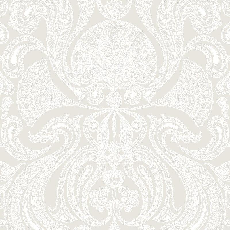 Cole & Son Malabar Soft Grey Wallpaper - 95/7040