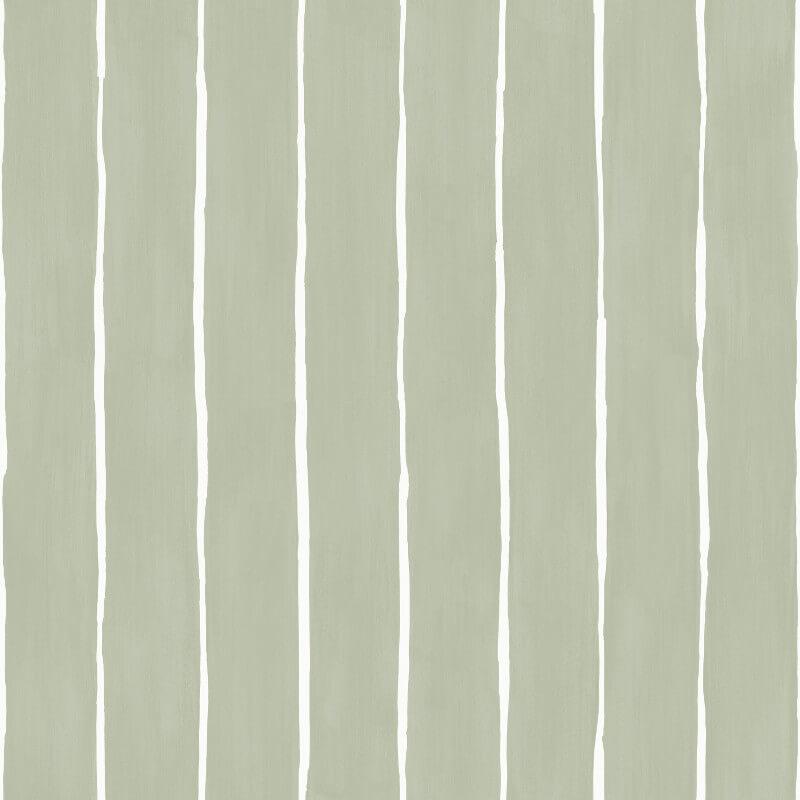 Cole & Son Marquee Stripe Soft Olive Wallpaper - 110/2009