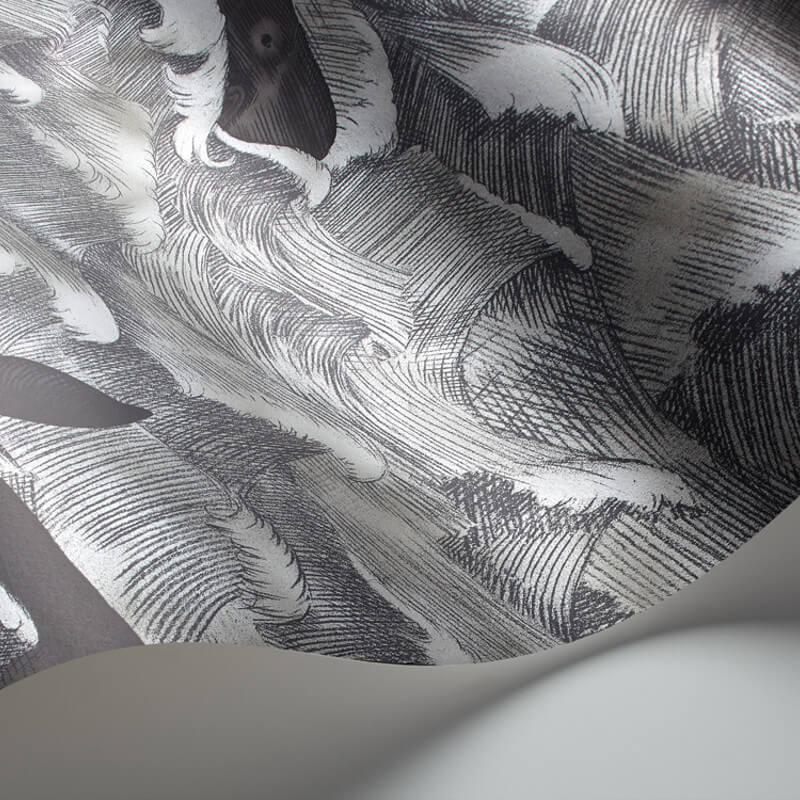 Cole & Son Melville Metallic Charcoal Wallpaper - 103/1005