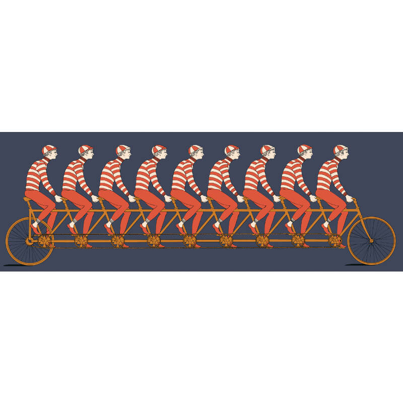 Cole & Son Multiplette Red/Navy Wallpaper Frieze - 97/15046