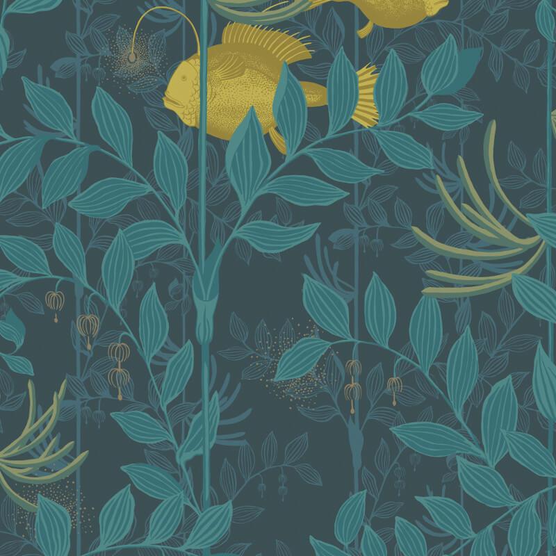 Cole & Son Nautilus Dark Blue Wallpaper - 103/4018