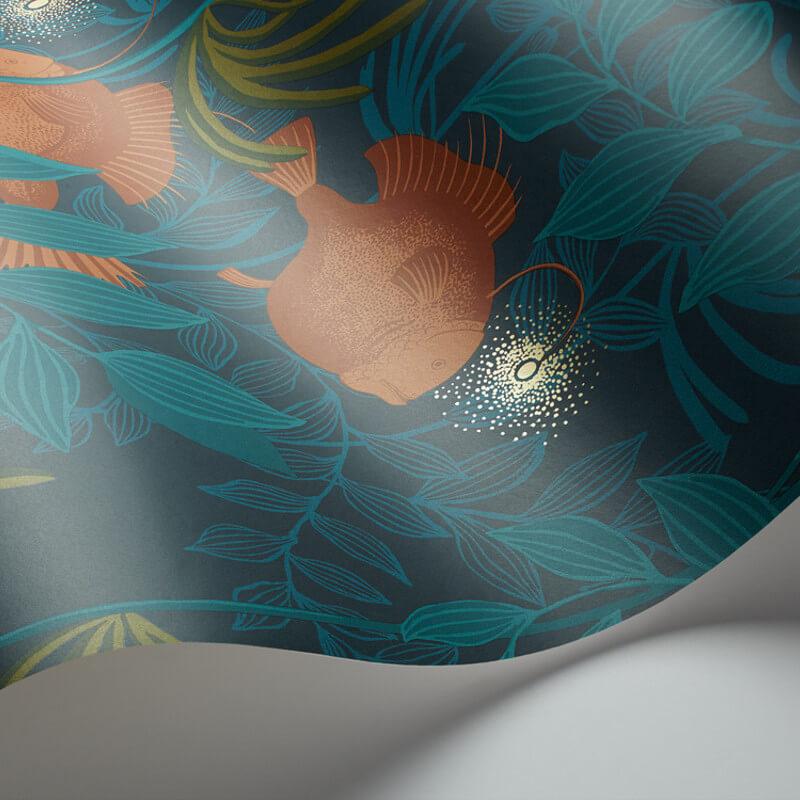Cole & Son Nautilus Dark Green Wallpaper - 103/4019
