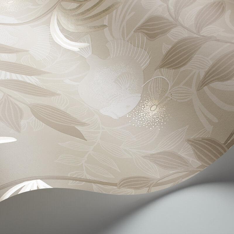 Cole & Son Nautilus Neutral/Silver Wallpaper - 103/4021