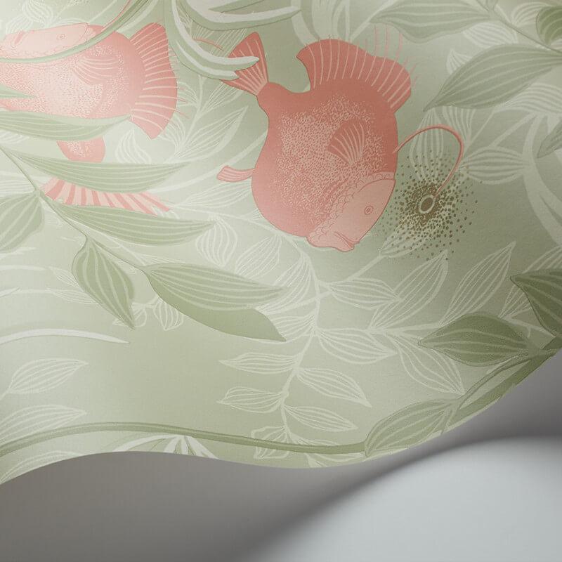 Cole & Son Nautilus Soft Green Wallpaper - 103/4020