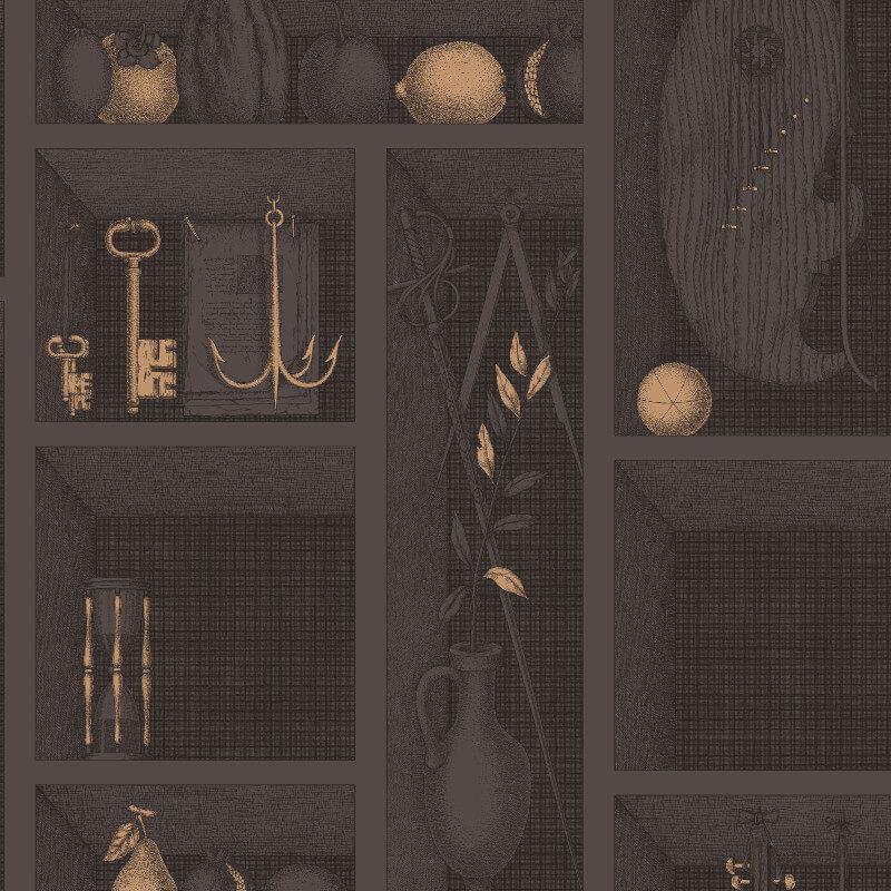 Cole & Son Nicchie Charcoal/Gold Wallpaper - 97/11036