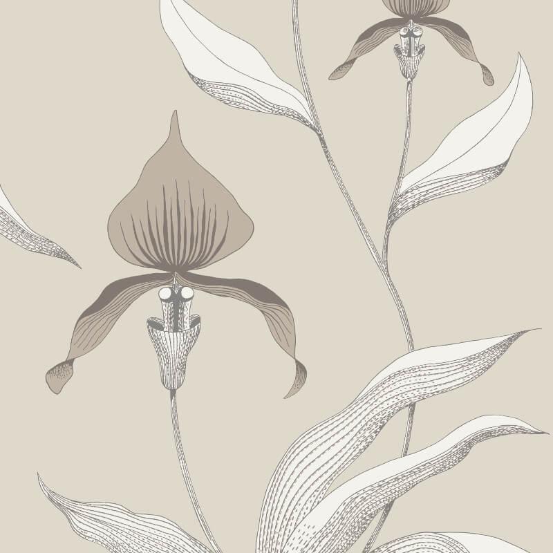 Cole & Son Orchid Linen Neutral Wallpaper - 95/10058