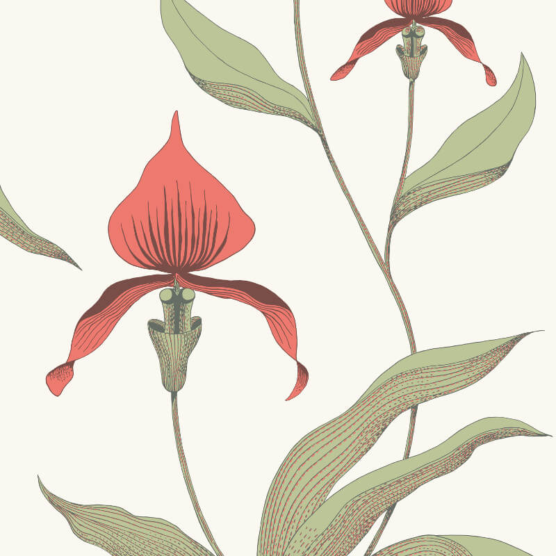 Cole & Son Orchid Red Wallpaper - 95/10054