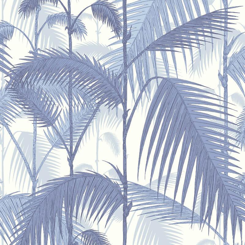Cole & Son Palm Jungle China Blue Wallpaper - 95/1005
