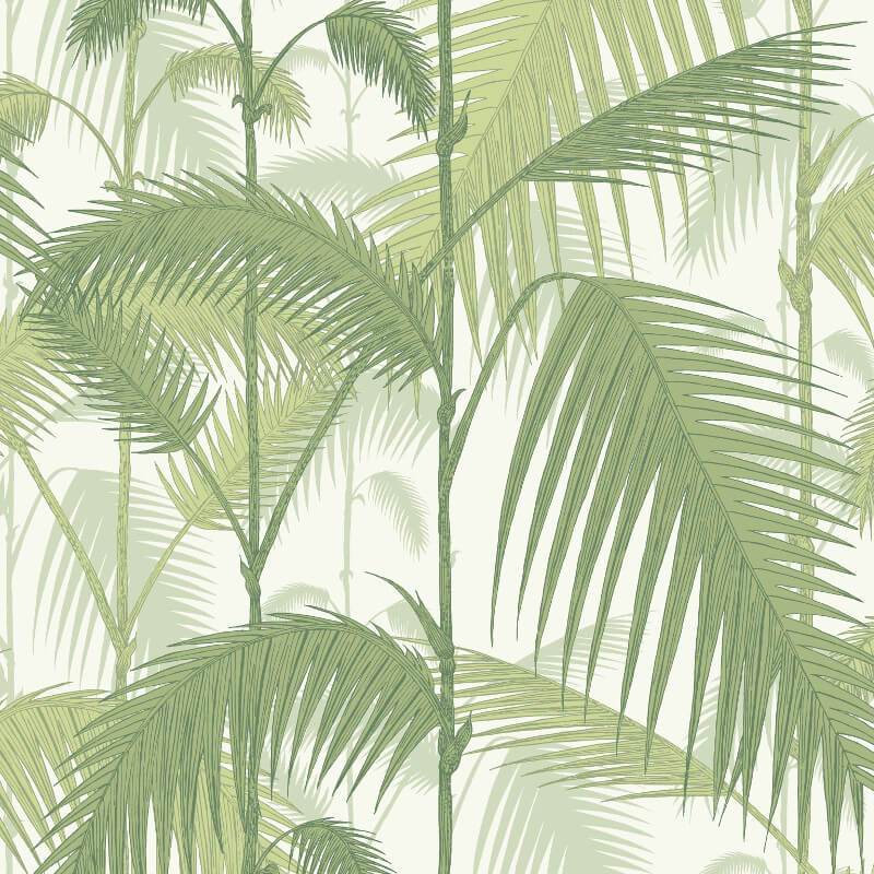 Cole & Son Palm Jungle Ivory/Green Wallpaper - 95/1001