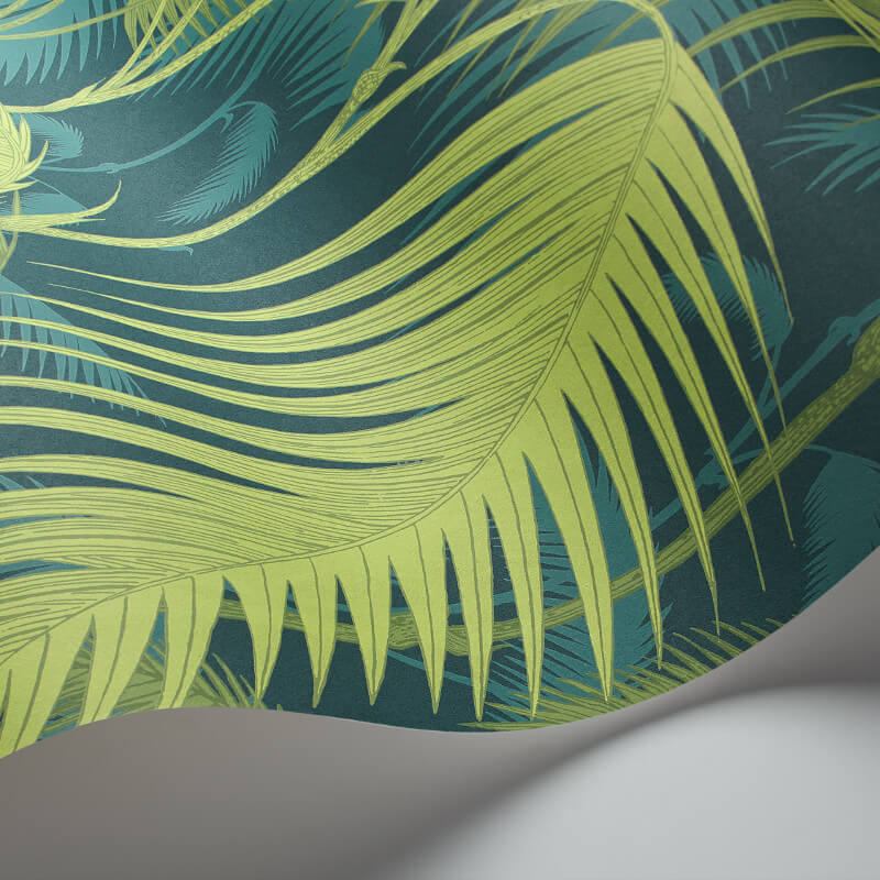 Cole & Son Palm Jungle Petrol/Lime Wallpaper - 112/1002