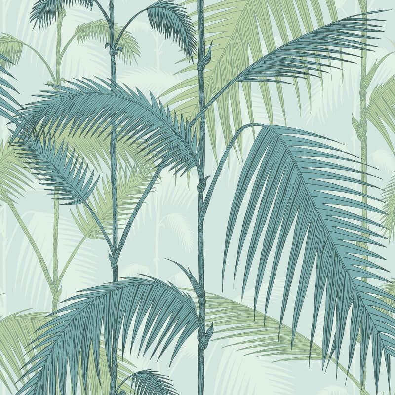 Cole & Son Palm Jungle Seafoam Wallpaper - 112/1001
