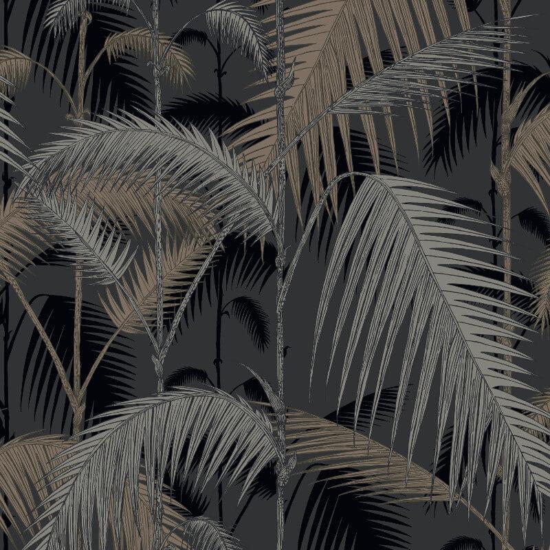 Cole & Son Palm Jungle Silver/Black Wallpaper - 95/1004