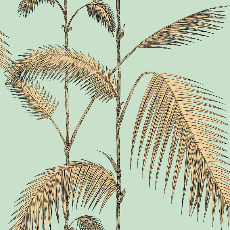 Cole & Son Palm Leaves Mint/Sand Wallpaper - 112/2006