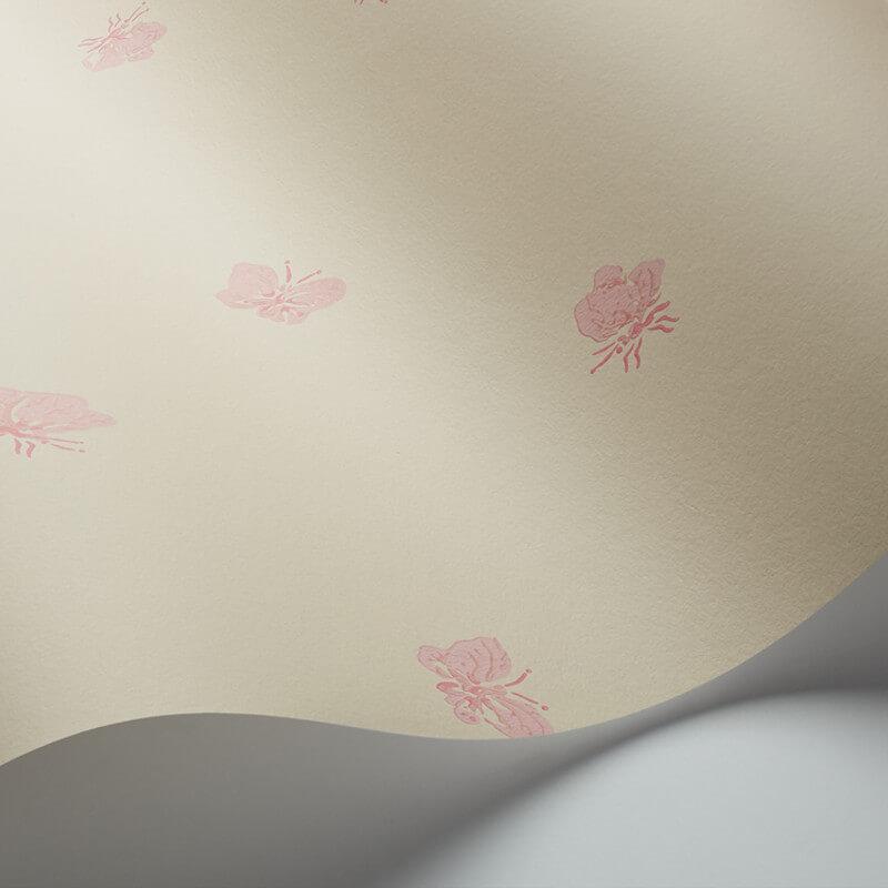 Cole & Son Peaseblossom Linen/Pink Wallpaper - 103/10036