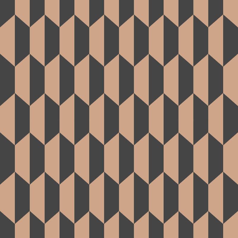 Cole & Son Petite Tile Charcoal/Bronze Wallpaper - 112/5022