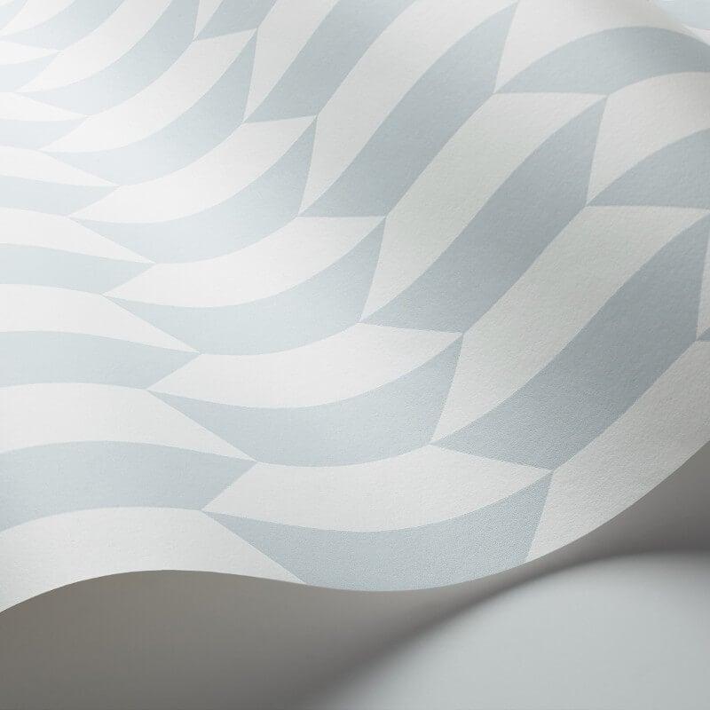 Cole & Son Petite Tile Powder Blue Wallpaper - 112/5018