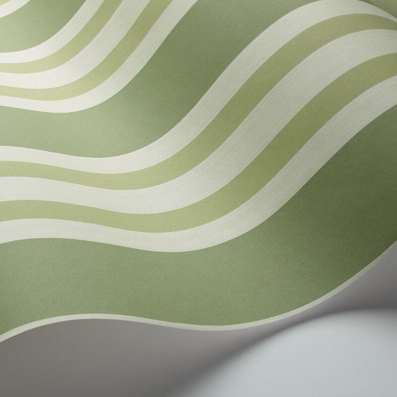 Cole & Son Polo Stripe Leaf Green Wallpaper - 110/1003