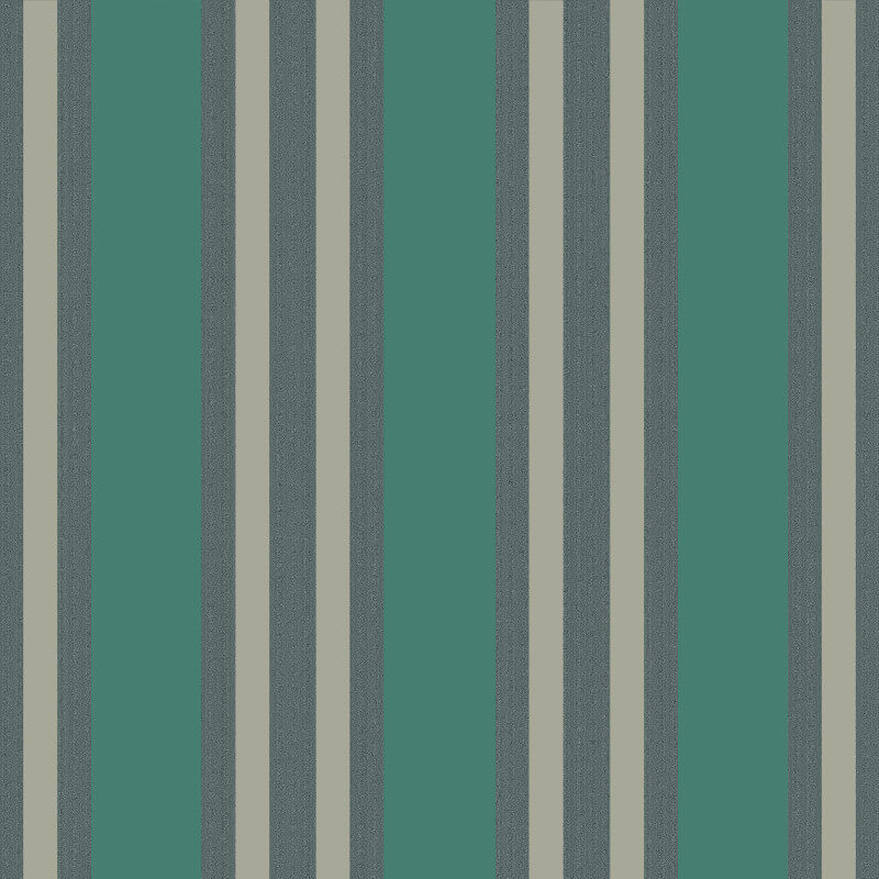 Cole & Son Polo Stripe Teal/Gilver Wallpaper - 110/1002