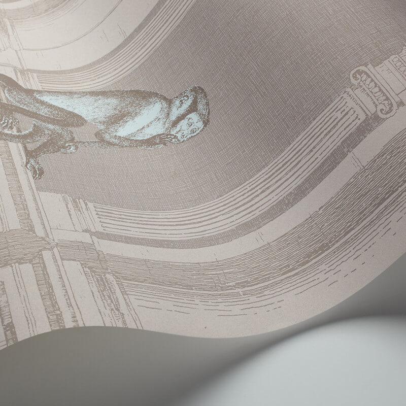 Cole & Son Procuratie e Scimmie Grey Wallpaper - 97/8022