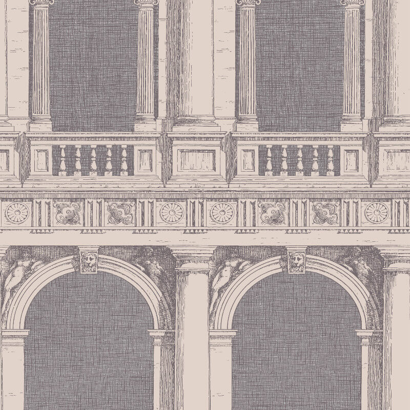 Cole & Son Procuratie Grey Wallpaper - 97/9026