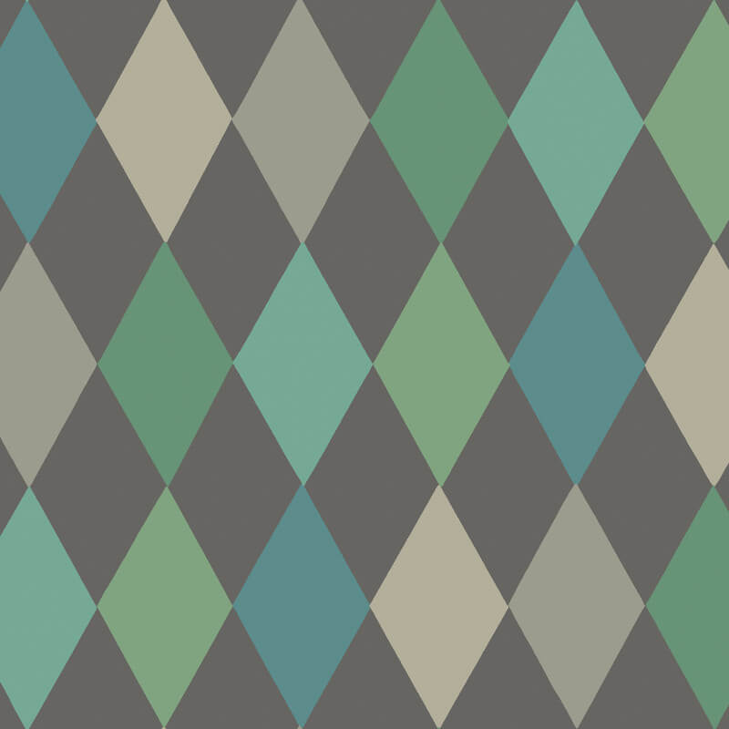 Cole & Son Punchinello Teal/Charcoal Wallpaper - 103/2007