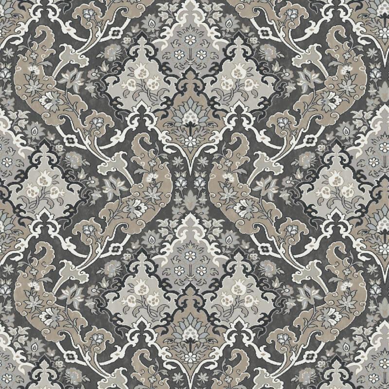 Cole & Son Pushkin Charcoal Wallpaper - 108/8043