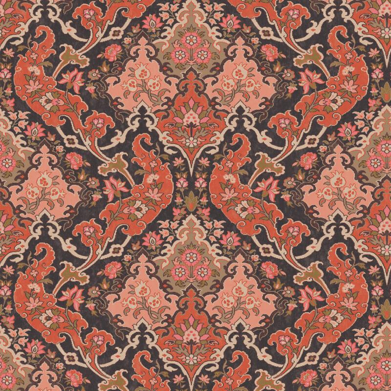 Cole & Son Pushkin Coral Wallpaper - 108/8039