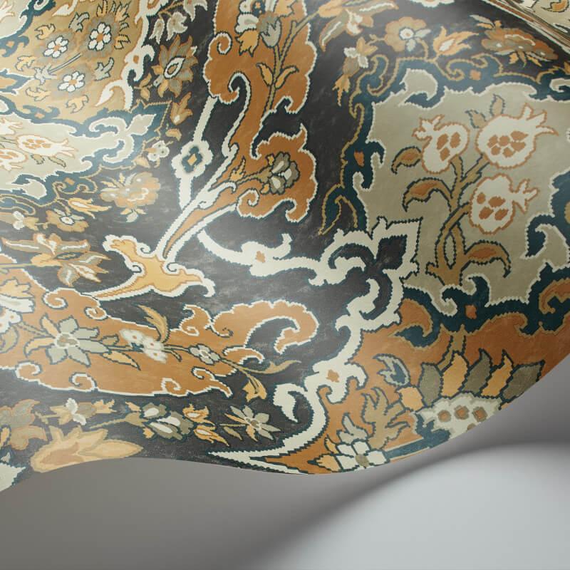 Cole & Son Pushkin Ginger/Charcoal Wallpaper - 108/8042