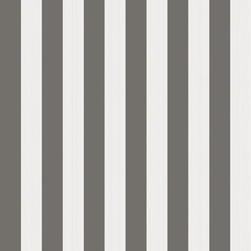 Cole & Son Regatta Stripe Black/White Wallpaper - 110/3016