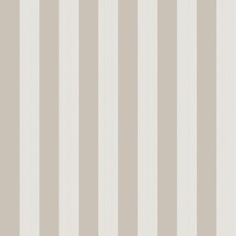 Cole & Son Regatta Stripe Stone/Parchment Wallpaper - 110/3015