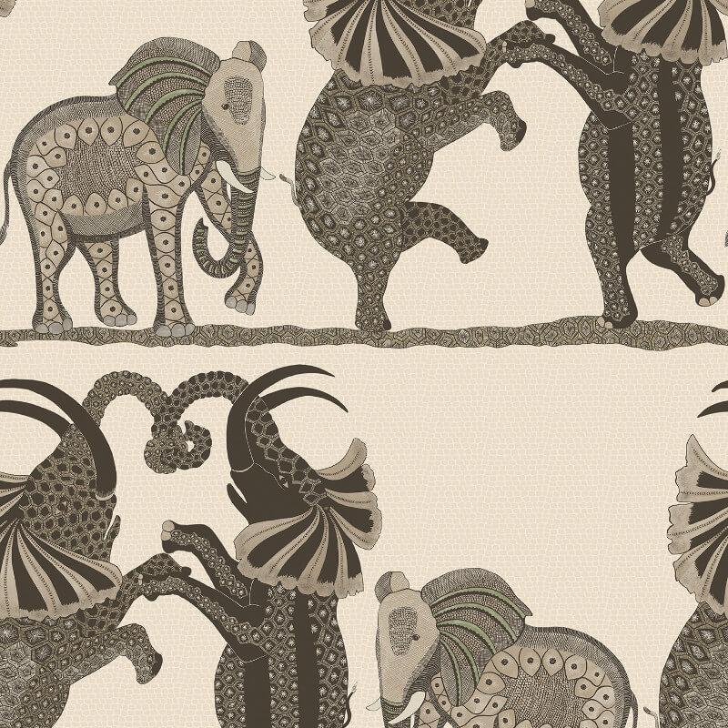 Cole & Son Safari Dance Neutral/Charcoal Wallpaper - 109/8036