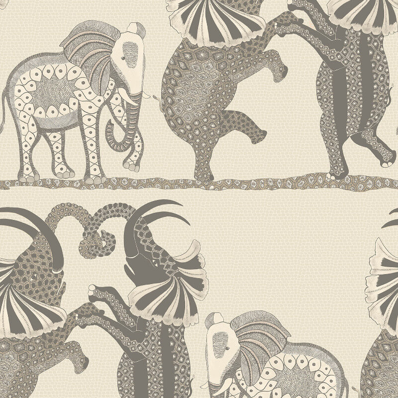 Cole & Son Safari Dance Pale Stone/Grey Wallpaper - 109/8037