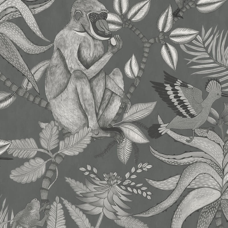 Cole & Son Savuti Charcoal Wallpaper - 109/1002