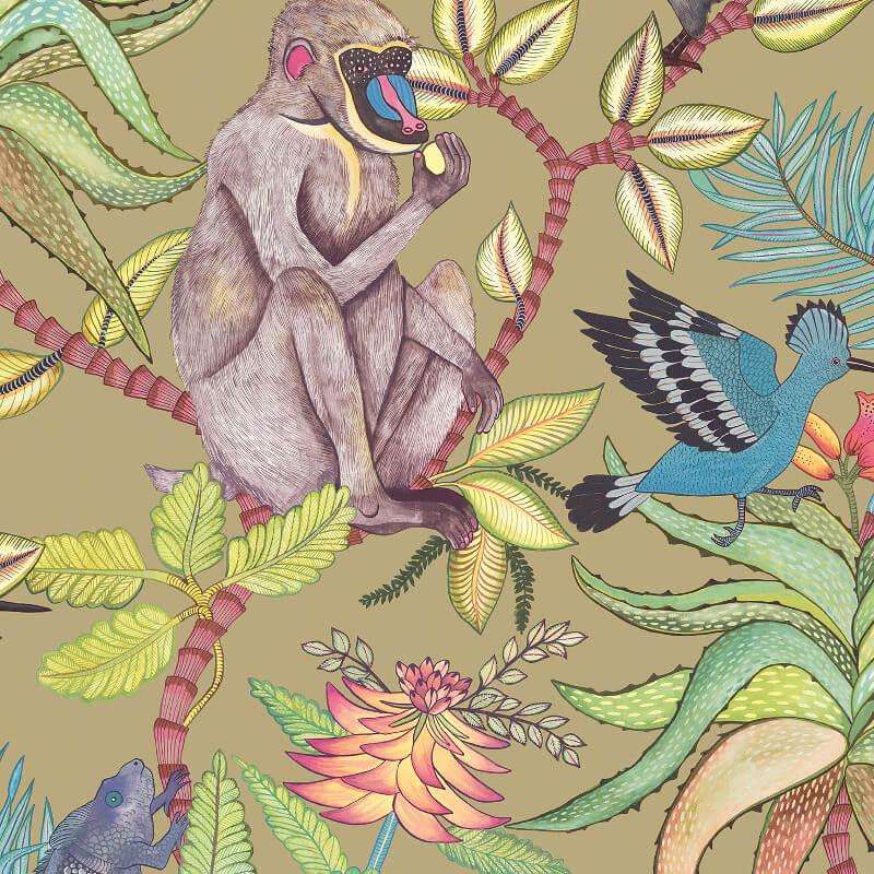 Cole & Son Savuti Khaki Multi Wallpaper - 109/1005