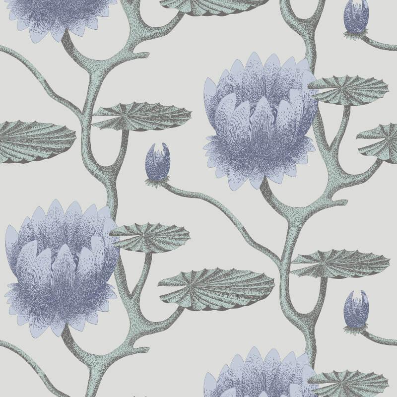 Cole & Son Summer Lily Aqua Wallpaper - 95/4024