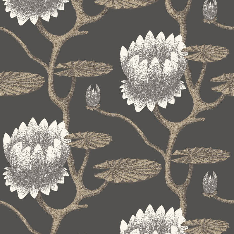 Cole & Son Summer Lily Black Wallpaper - 95/4026