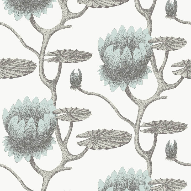 Cole & Son Summer Lily Blue Wallpaper - 95/4022