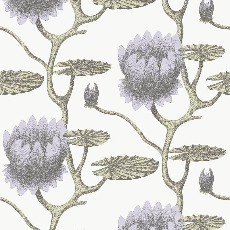Cole & Son Summer Lily Lilac Wallpaper - 95/4023