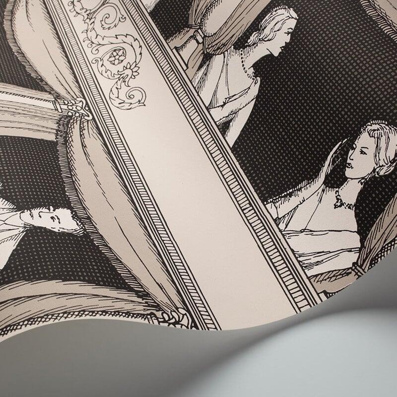Cole & Son Teatro Black/White Wallpaper - 97/14044