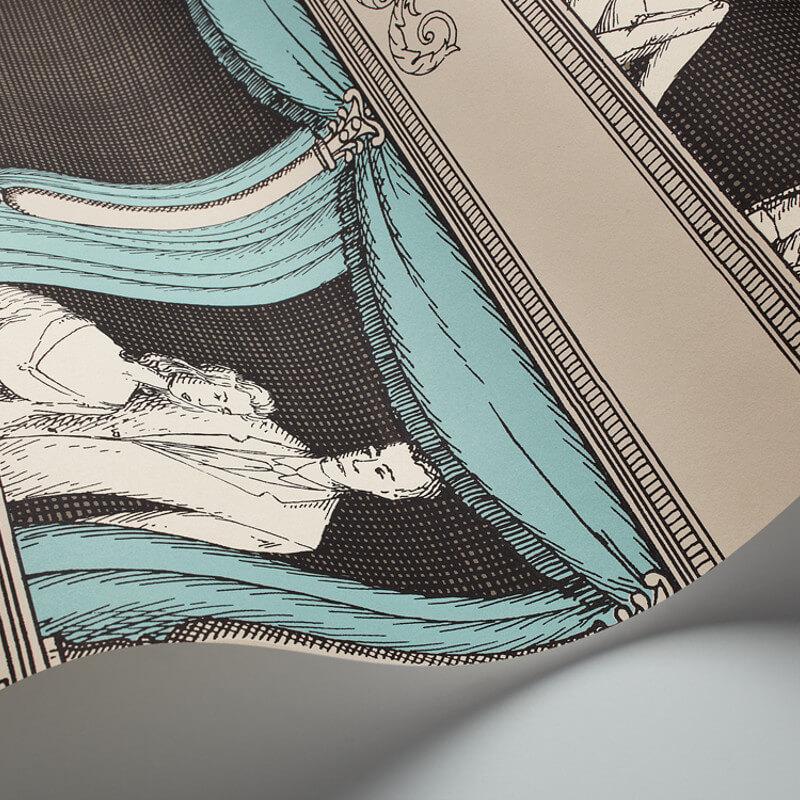 Cole & Son Teatro Linen/Aqua Wallpaper - 97/14043