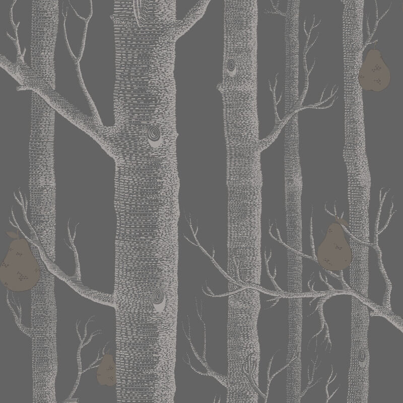 Cole & Son Woods and Pears Black Wallpaper - 95/5031
