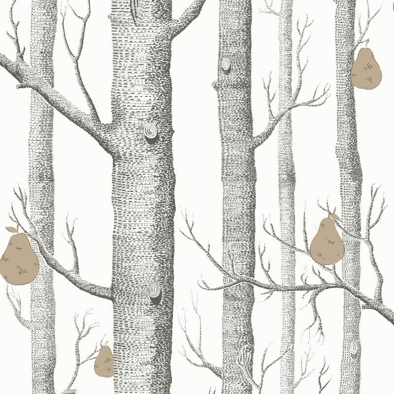 Cole son woods and pears black white wallpaper 95 5027 - Cole son ...