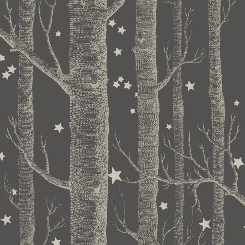 Cole & Son Woods and Stars Charcoal Wallpaper - 103/11053