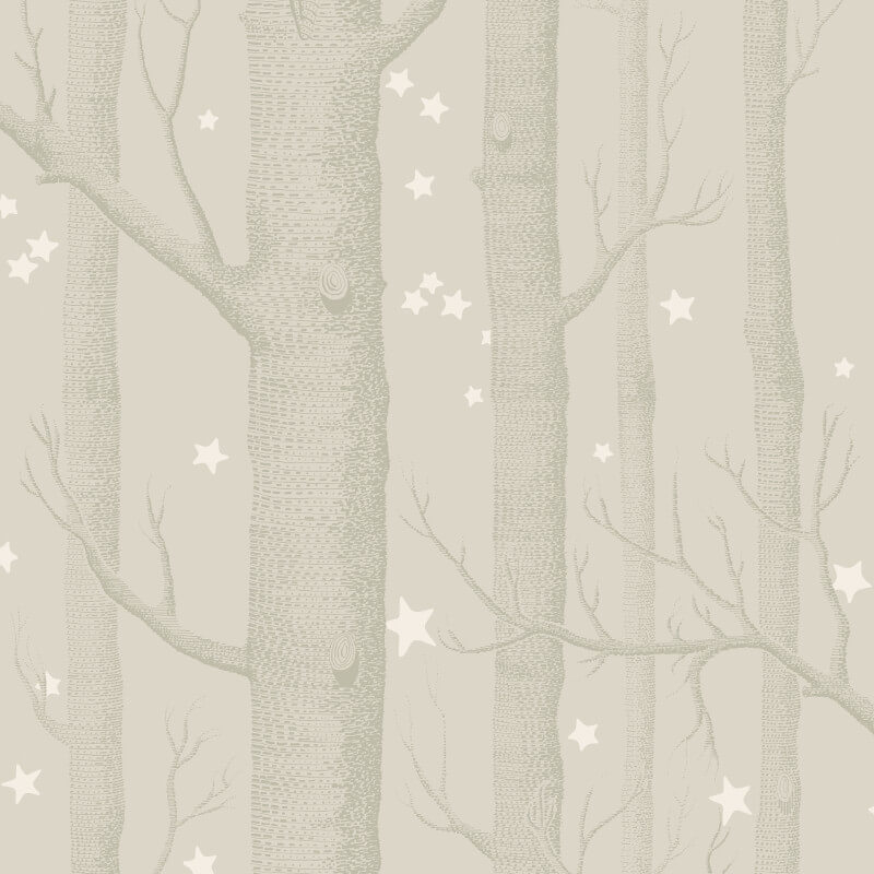 Cole & Son Woods and Stars Grey Wallpaper - 103/11048