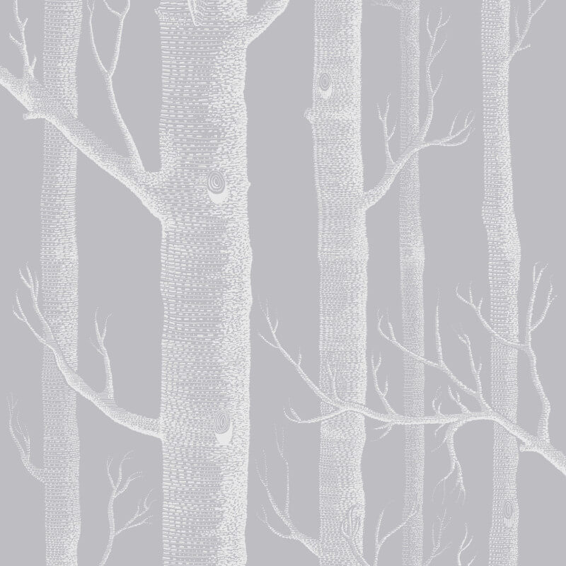Cole & Son Woods Grey/White Wallpaper - 112/3012
