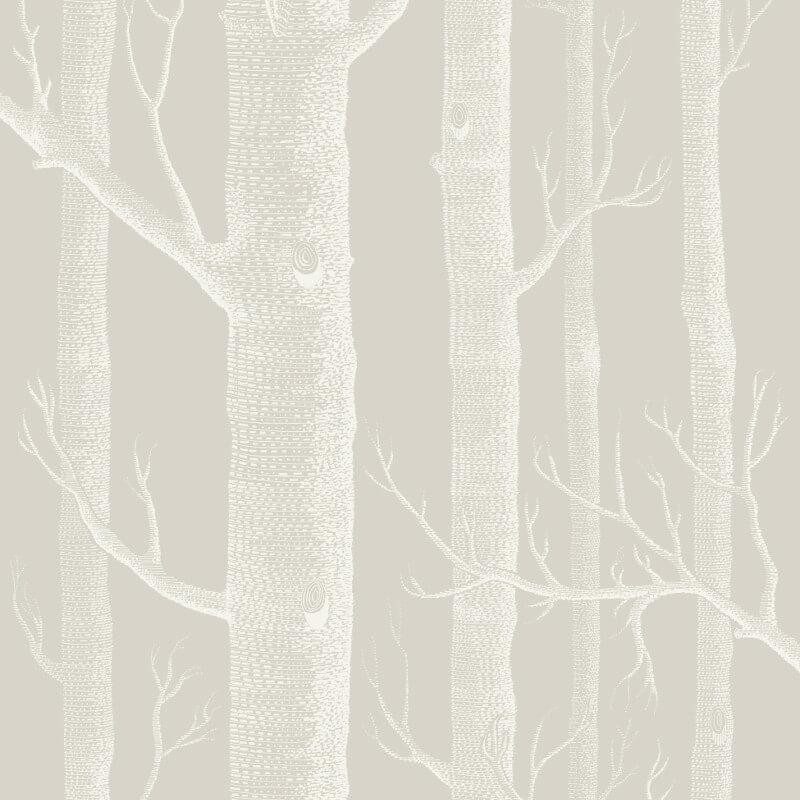 Cole & Son Woods Stone/White Wallpaper - 112/3010