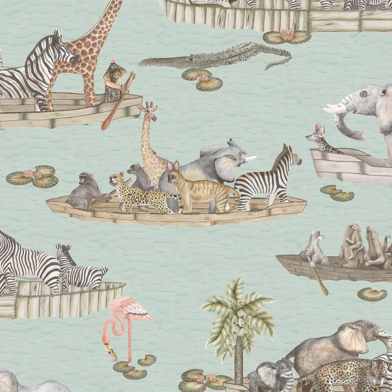 Cole & Son Zambesi Multi Wallpaper - 109/14063