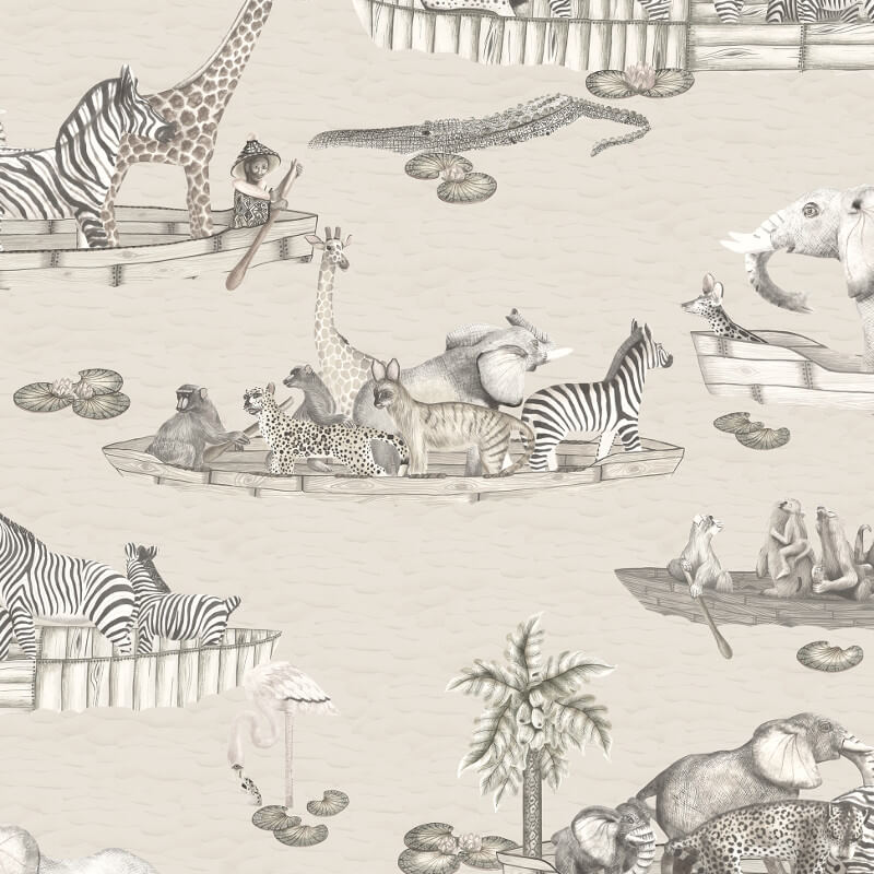 Cole & Son Zambezi Neutral Wallpaper - 109/14062