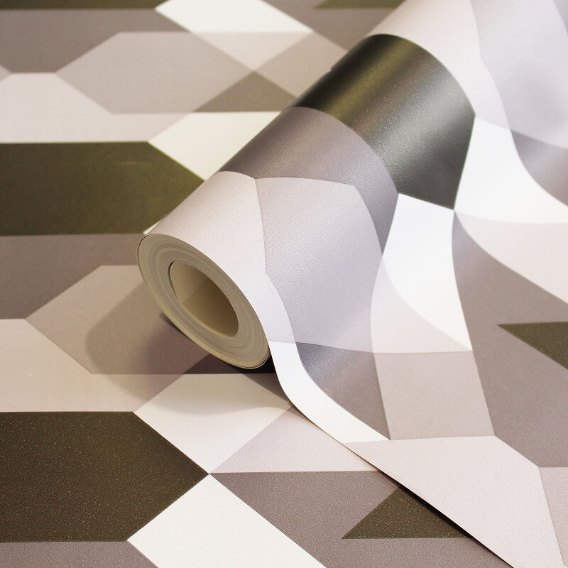 Coloroll Copenhagen Geometric Black/White Wallpaper - M1329